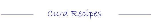 Curd Tea Party Dessert Recipes