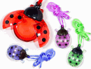 Ladybug Lip Gloss Necklaces
