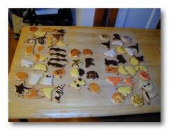 Halloween cut-out sugar cookies