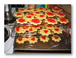 flower-shaped cookies